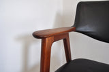 Danish modern teak armchair by Erik Kirkegaard from the 50s