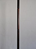 Danish modern rosewood floor lamp with brass details