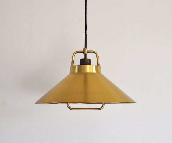 Patinated Brass Pendant by Frits Schlegel for Lyfa, Denmark