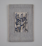 vAbstract handwoven wall tapestry by the Danish artist Mette Birckner