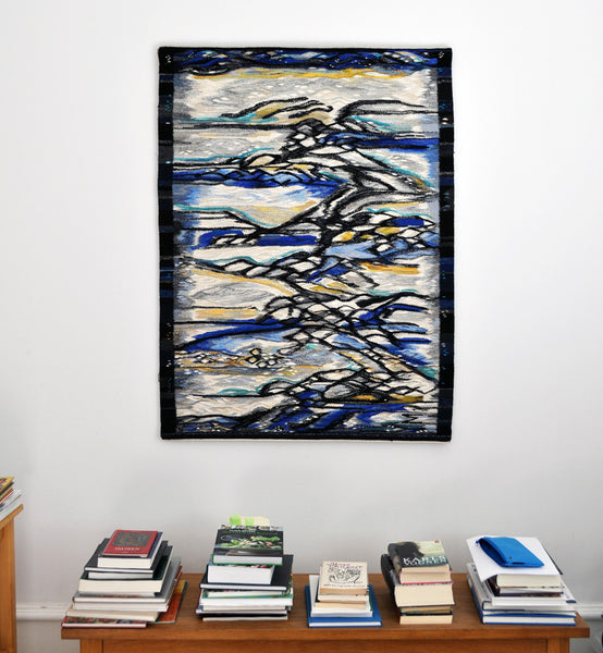 Contemporary tapestry weaving by the danish artist Mette Birckner.