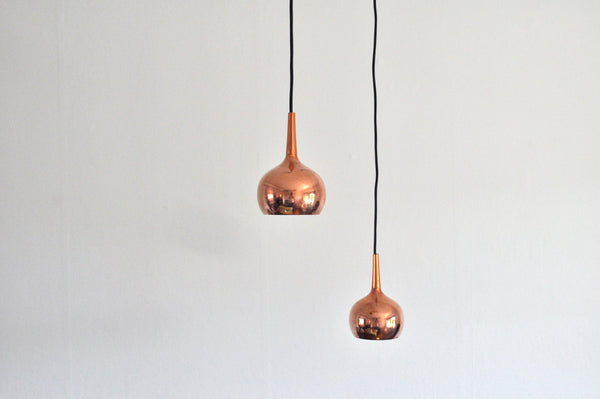 Small Copper Pendants by Hans-Agne Jakobsson, Sweden 1960s