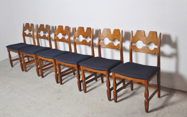 Danish Dining chairs by Henning Kjærnulf, set of 6