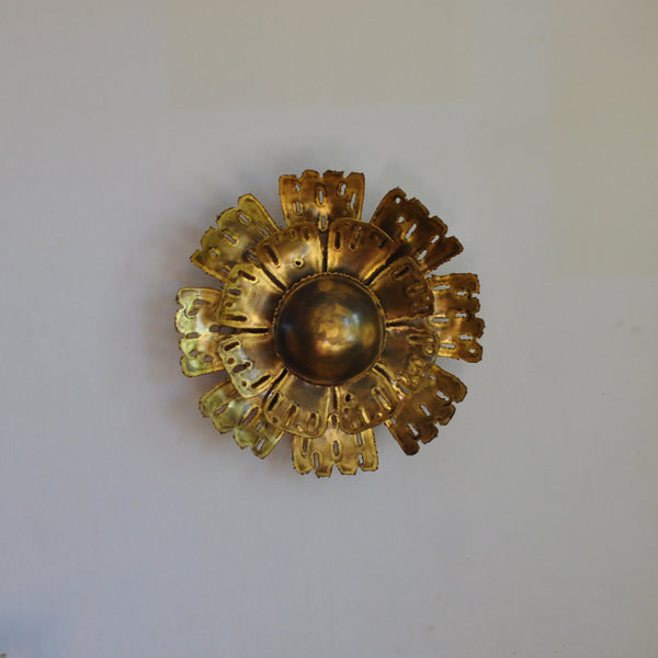 Large brass wall lamp by Svend Aage Holm Sørensen, the 60's in Denmark