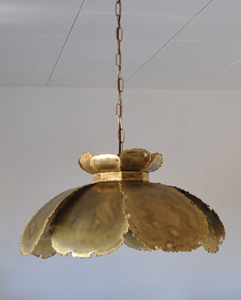 Hanging brass lamp from the 60s by Svend Aage Holm Sørensen