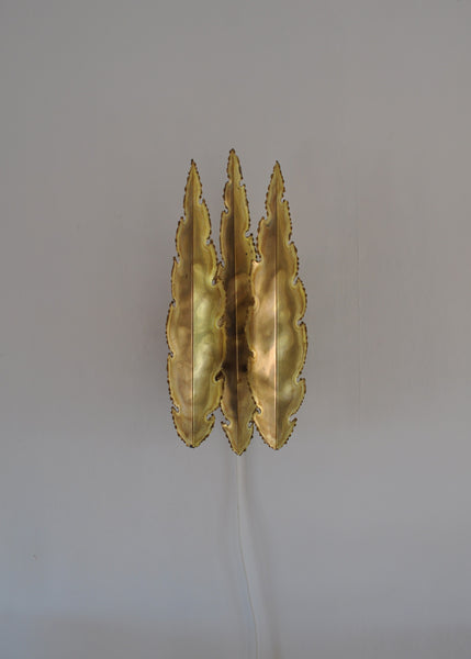 Brass wall lamp by Svend Aage Holm Sørensen, the 60's in Denmark