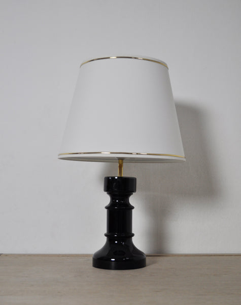 Danish opaline glass Table Lamp by Horn
