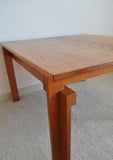 Rare Danish Modern Coffee Table in massive teak wood by Inger Klingenberg for France & Søn