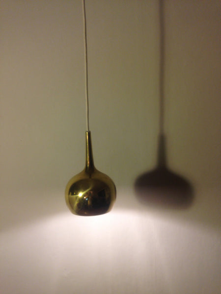 Small swedish Hans Agne Jakobsson brass pendant