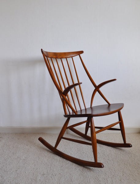 Rocking Chair by Illum Wikkelsø for N. Eilersen, 1950s