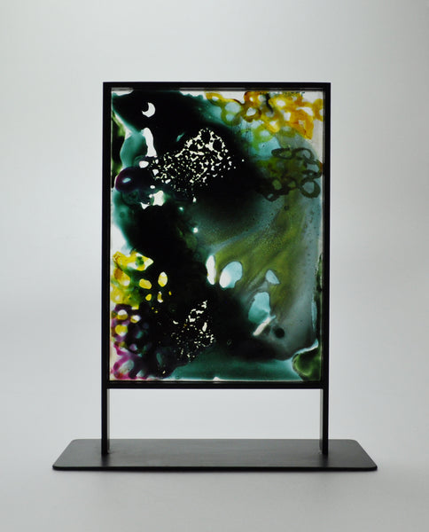 Scandinavian Stained Glass Sculpture by the German artist Inka Sigel, 2009