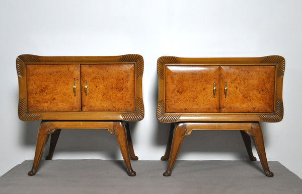 Italian Art Deco Bedside Night Stands, set of 2, 1930s