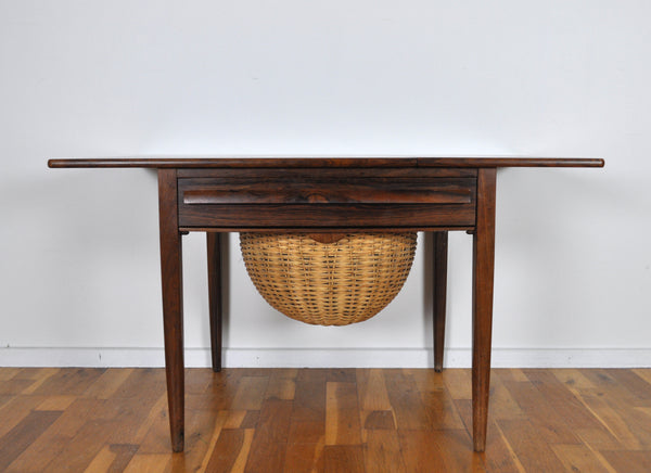 Mid-Century Modern Drop-Leaf Sewing Table by Johs. Andersen, 1960s