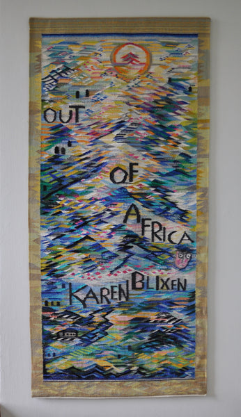 """Karen Blixen - Out of Africa"" Tapestry weaving by the danish artist Mette Birckner"