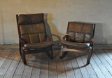 A pair of norwegian easy chairs