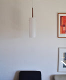Large pendant lamp made of rosewood and acrylate by Uno & Östen Kristiansson for Luxus