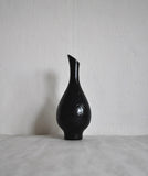 Mari Simmulson stylistically pure vase with a semi matte black glaze from Upsala Ekeby