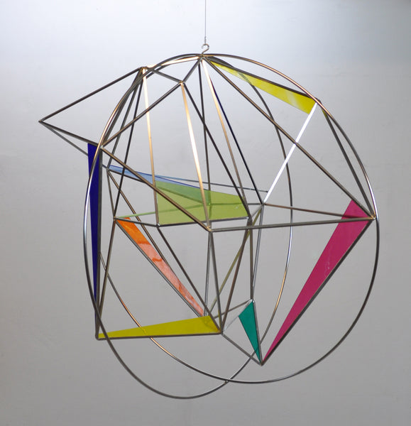 "Contemporary Abstract Geometric Sculpture or Mobile ""Globe"" Sculpture by the Danish artist and designer Peter Stuhr"