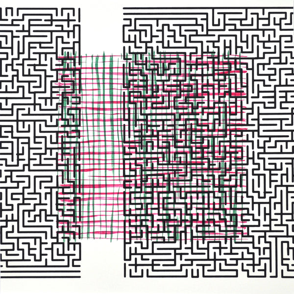 """Pattern Break (delusion)"" Post Modern Screen Print and Lithograph by the Danish artist Claus Handgaard Jørgensen"