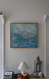 Contemporary danish painting, oil on canvas by Mette Birckner