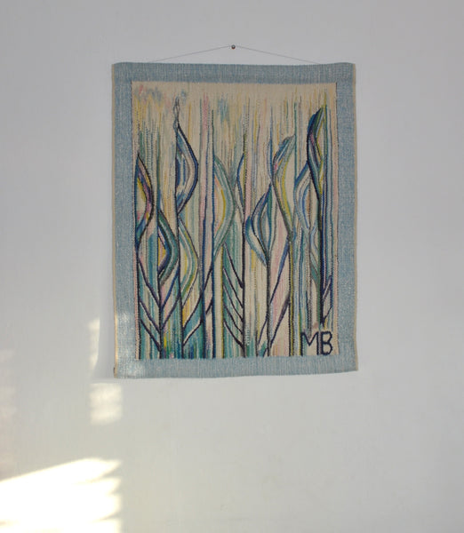 Danish abstract tapestry from the 1980s by the danish artist Mette Birckner