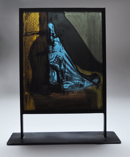 Scandinavian Stained Glass Sculpture by the Danish artist Peter Brandes
