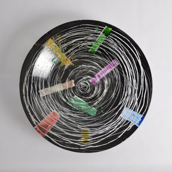 Unique Contemporary Hand Painted Plate by Peter Stuhr, Denmark