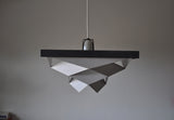 """Symfoni"" pendant in white and grey painted metal by Preben Dal"