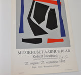 Exhibition Screen Print by Robert Jacobsen, signed