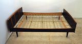 Danish Modern rosewood double bed by Danish Sannemann, 1960s