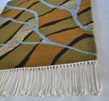 Mid-Century Modern Handwoven Scandinavian Wall Tapestry in earth colours