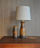 Beautifully glazed Scheurich West German table lamp