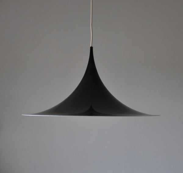 Black Semi Lamp - sharp, clean lines and a geometric shape