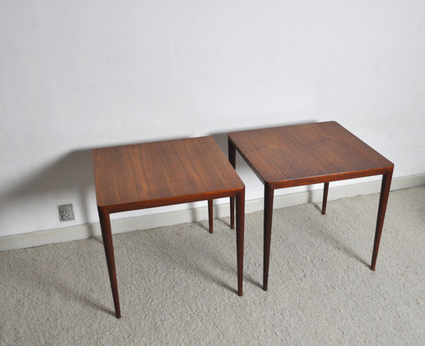 Severin Hansen Side Tables by Haslev Møbelsnedkeri in Denmark