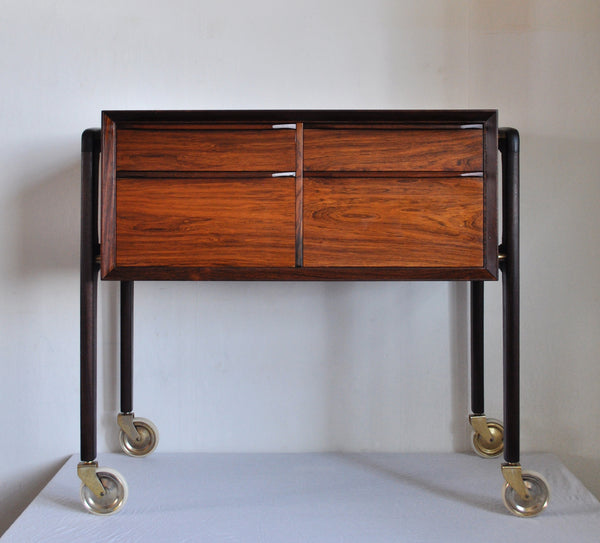 Scandinavian Modern Danish Rosewood Sewing Table, 1960s