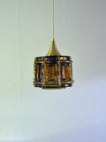 Danish vintage coloured glass pendant