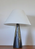 Large ceramic table lamp by Svend Aage Jensen for Søholm, 1950s