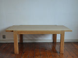 Danish soap-treated solid oak coffee table