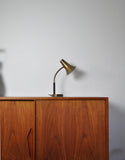 Swedish Patinated Brass Table Lamp, 1950s