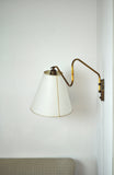 Danish Swing Arm Brass Wall Lamp, 1950s