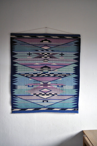 High quality handwoven tapestry from the 1980s by the danish artist Mette Birckner