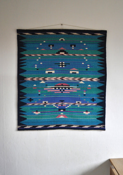 High quality handwoven danish tapestry from the late 80s