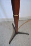 Danish Modern Teak floor lamp with brass details, 1960s