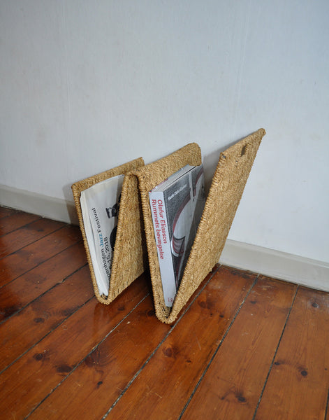 Mid-Century Rattan Magazine Holder or Rack