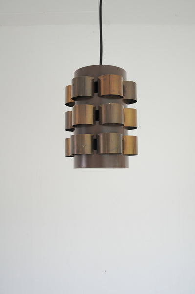 Danish lamp with beautifully patinated brass elements, design by Werner Schou for Coronell