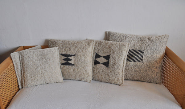 Danish hand woven and hand stitched cushions