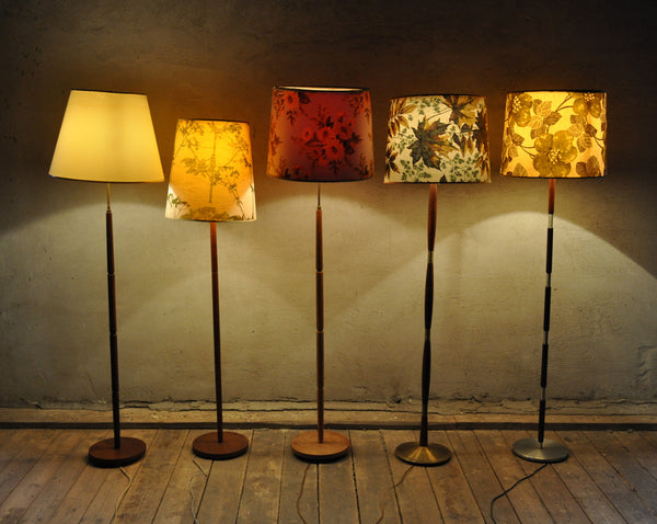 Danish floor lamps with fine details