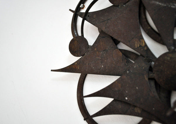 Wall sculpture in metal by Henrik Horst, Denmark 1970's