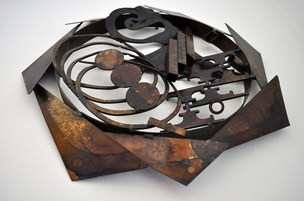 Wall sculpture in metal by Henrik Horst