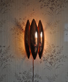 'Kastor' copper wall lamp, design Jo Hammerborg